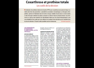 Coxarthrose et prothèse totale