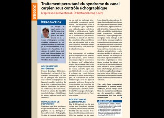 Traitement percutané du syndrome du canal carpien sous contrôle échographique
